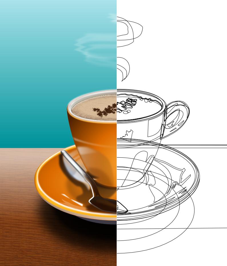 coffee cup half-n-half by QuicheLoraine