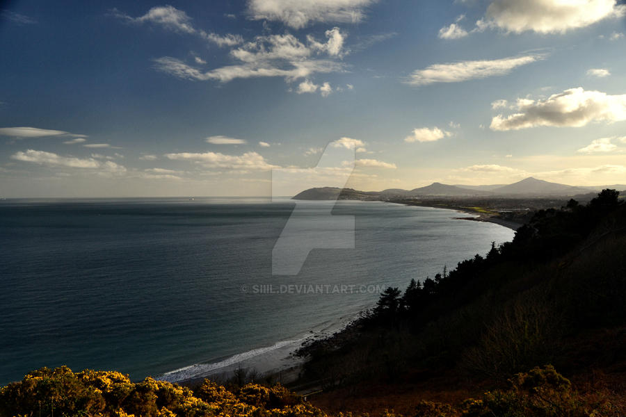Killiney beach by Siiil