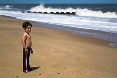 At the Beach - Boy by MrScruffy