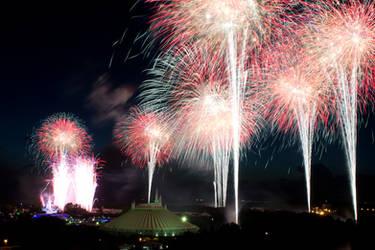 Disney Fireworks - 01 by MrScruffy
