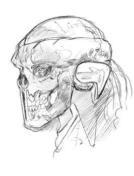 Deaths Head 2 sketch by drnlds