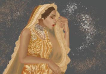 Asian Bride by tanviriillustration