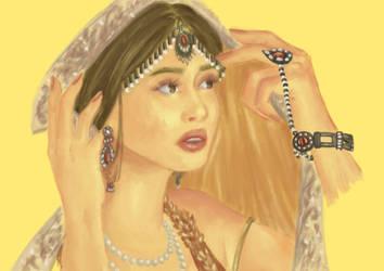 Asian Bride II by tanviriillustration