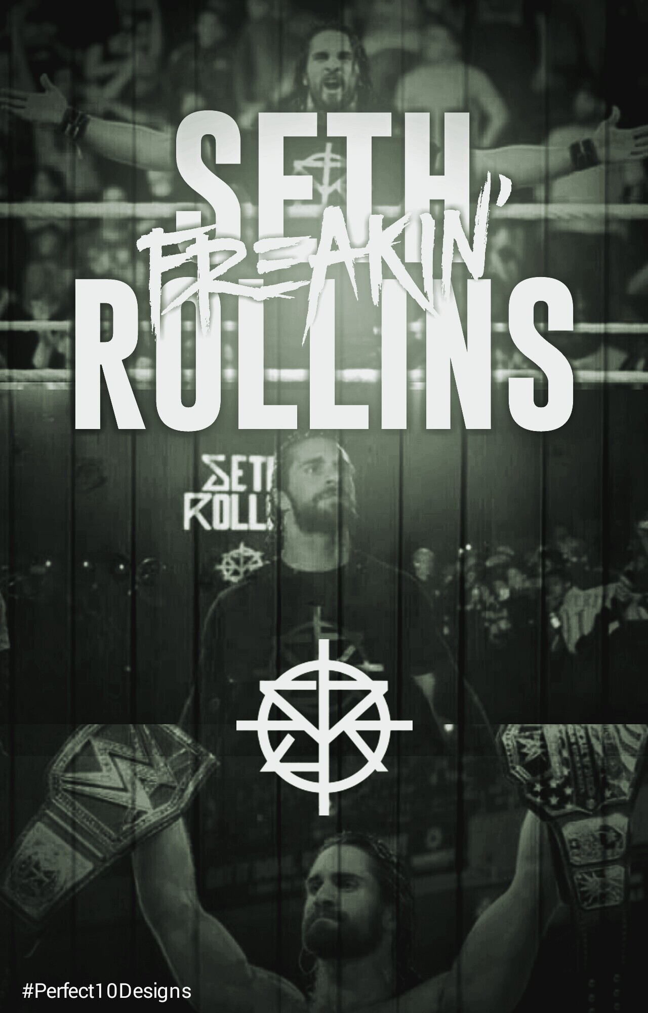 how to draw seth rollins logo
