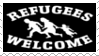 refugees welcome stamp
