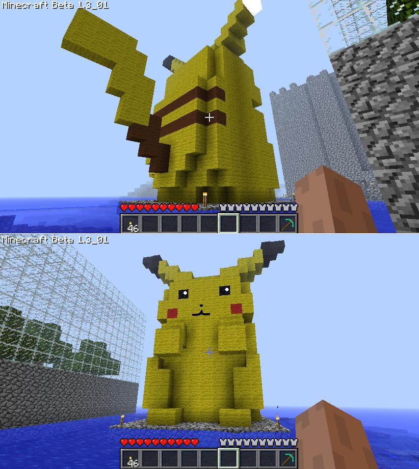 pixel art 3d pikachu