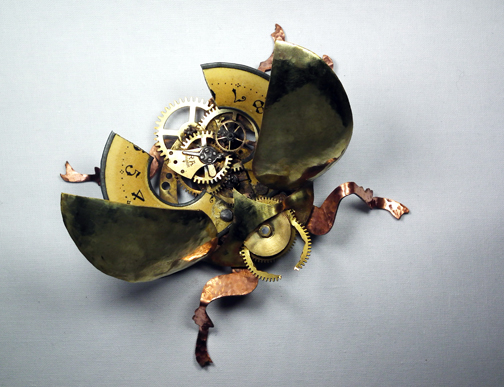 Time Scarab sculpture 2 by Shadows-Ink