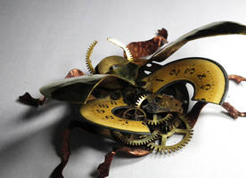 Time Scarab sculpture 5 by Shadows-Ink