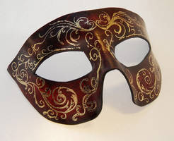 Dark Red Corolla Leather Mask