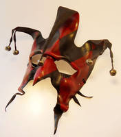 Jester leather mask by Shadows-Ink
