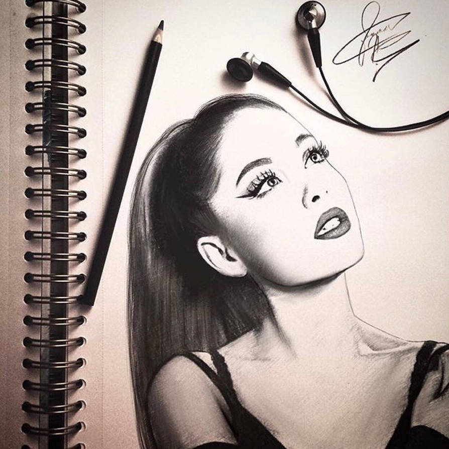 Sketch of ariana grande by justinhotshotzz
