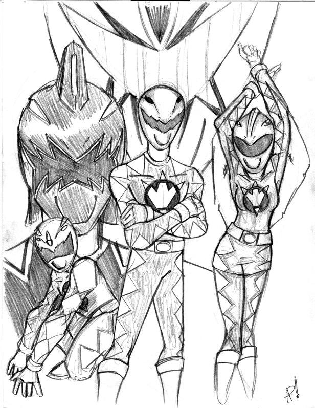 Power Rangers Dino Thunder by psifreek27