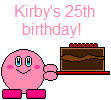 Kirby's 25th birthday!