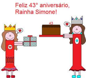 Feliz 43 aniversario, Rainha Simone! by SarahVilela