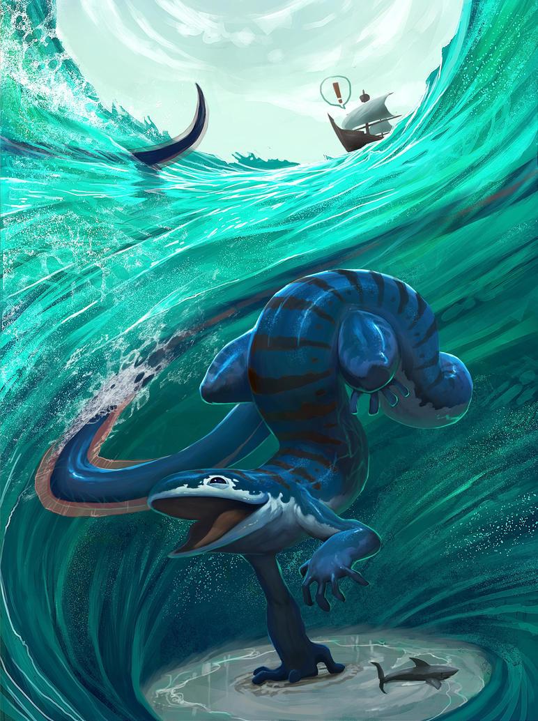 แล่นเรือตามลมซ้ายขวา Sea_monster_by_farkwhad-d4ej5d3