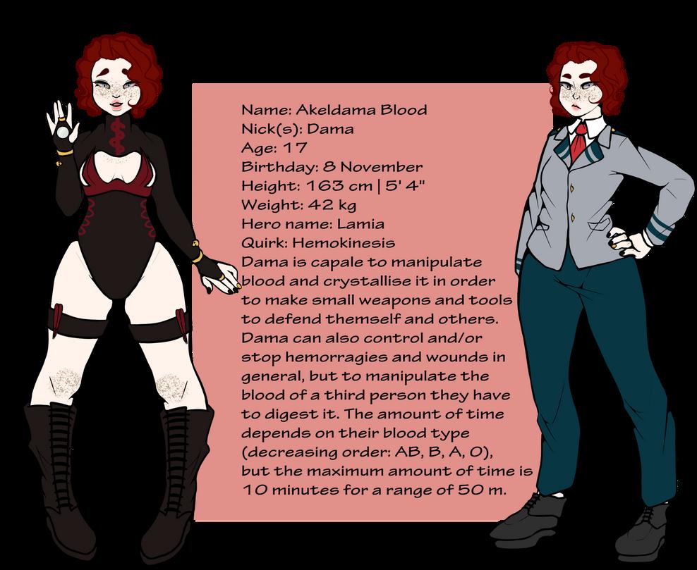 BNHA OC: Akeldama Blood | Lamia by Atanapotinija