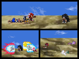 Sonic defeated!? Return of the doppelgangers! by Swagboy567
