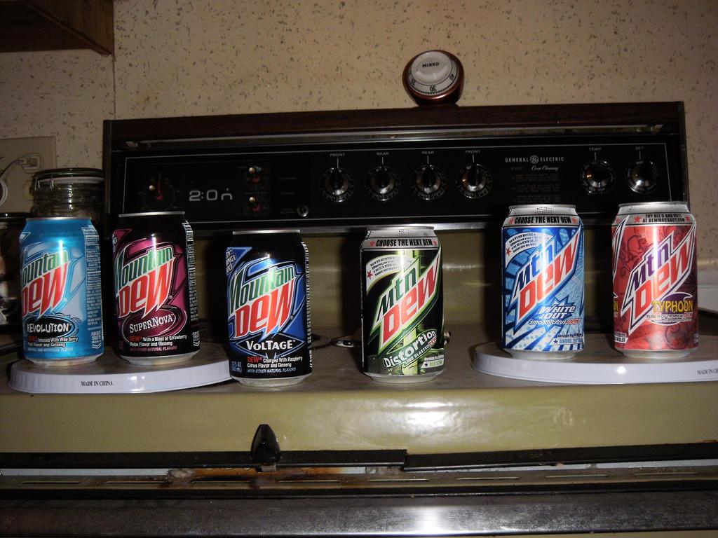 Mountain Dew Flavors by BrigadierDarman on DeviantArt