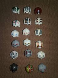 Lego Rebel Pilot Helmets by BrigadierDarman