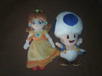 Princess Daisy and Blue Toad Plushies by BrigadierDarman
