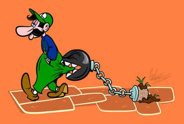 Luigi and Chain Chomp Tex Avery Style by BrigadierDarman