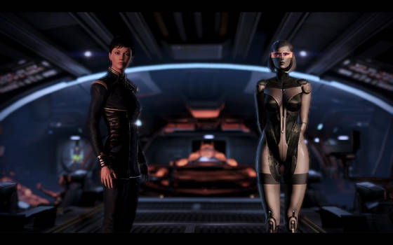 ME3 Jane Shepard and EDI 2