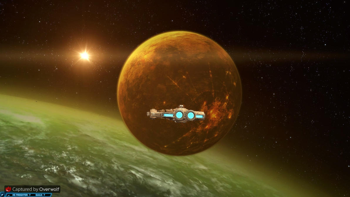 SWTOR - X5 Freighter Approaches Nar Shaddaa by chicksaw2002