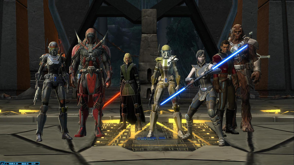 SWTOR SoR - Merc Aly'loren and Friends by chicksaw2002