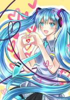 Vocaloid: Hatsune Miku by SnowWhiteBirdie