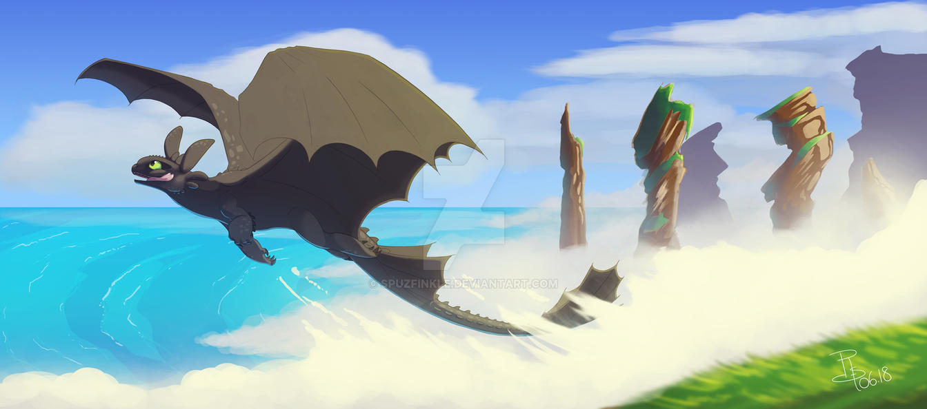 HTTYD Toothless by Spuzfinkle