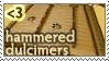 Heart Hammered Dulcimers Stamp by Atalhlla