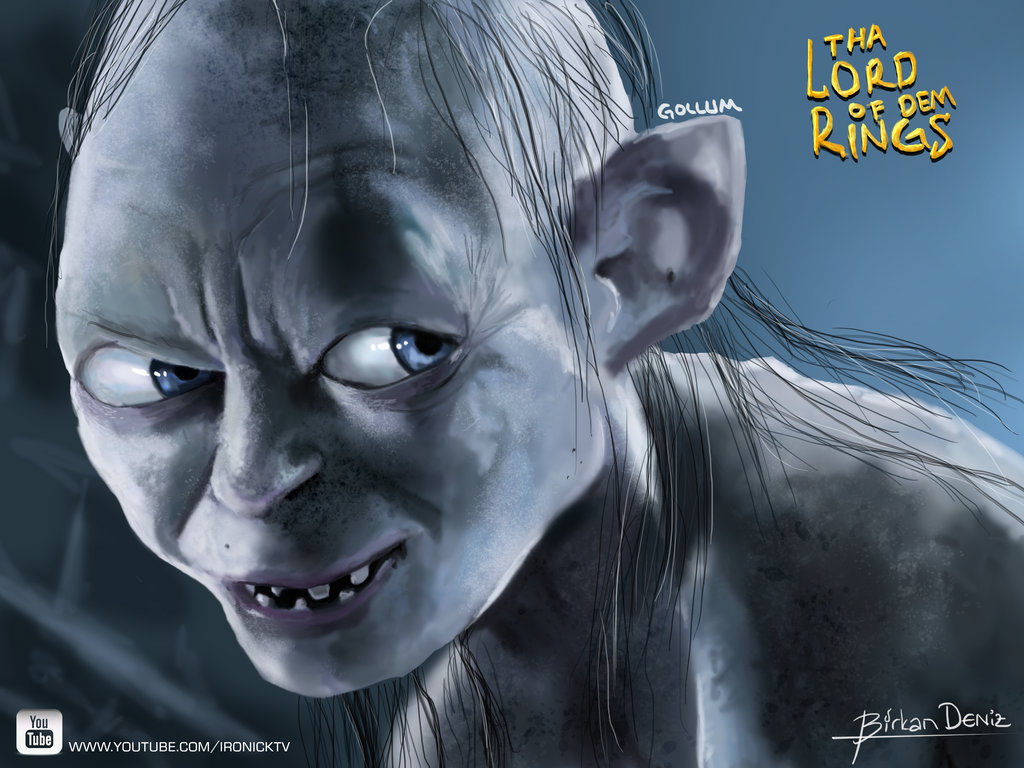 Gollum The Lord of The Rings by IronickTV on DeviantArt