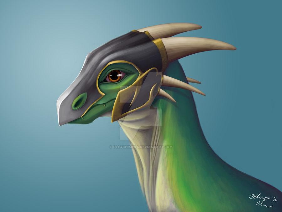 Helmet Dragon Commission