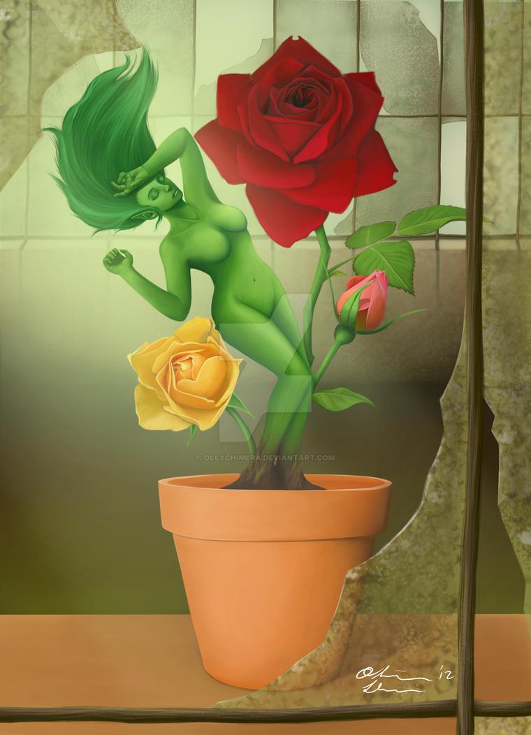 Rose Dryad Redux by OllyChimera
