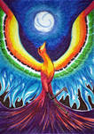 Lunar Phoenix ACEO *Prints Available* by OllyChimera