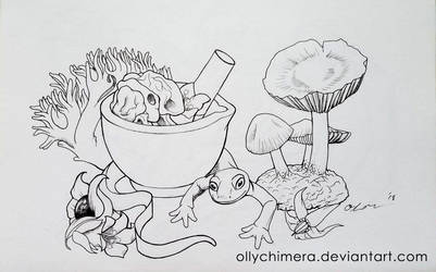 Inktober Day 1 - Poisonous
