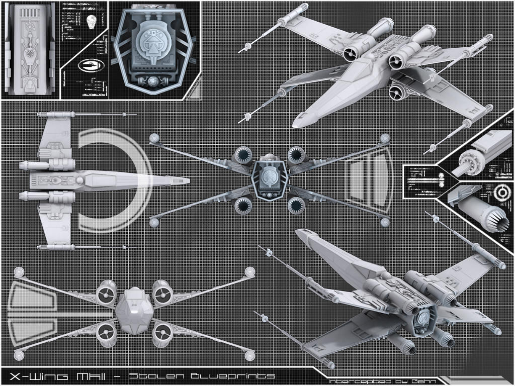 X wing mkii stolen blueprint by gahn on deviantart x wing mkii stolen blueprint by gahn malvernweather Image collections