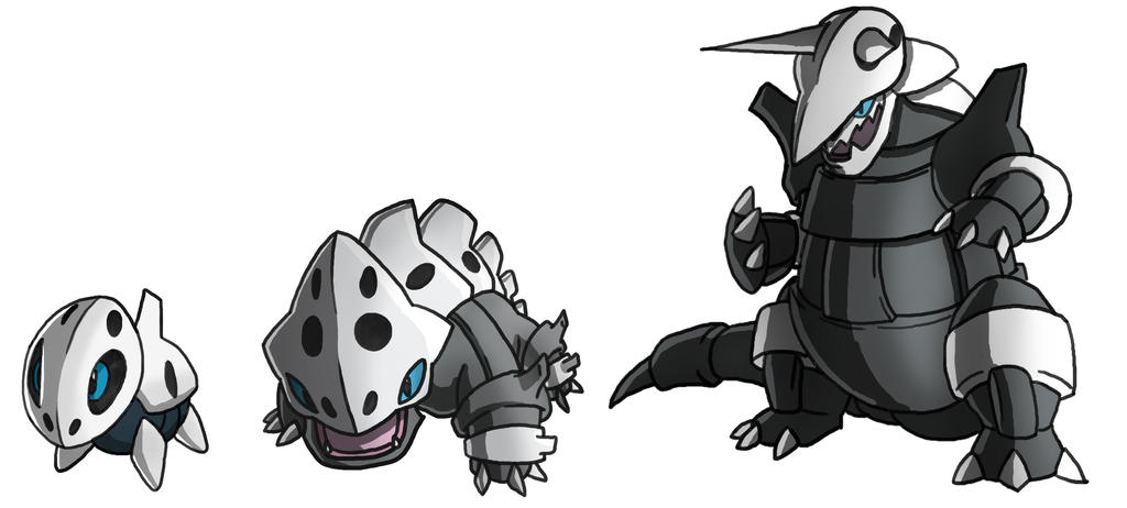 Pokemon Aron Lairon Aggron Evolution by twinkietoaster on ...