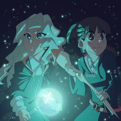 Akko and Diana by twinkietoaster