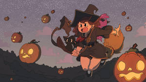 Cute witch drawing