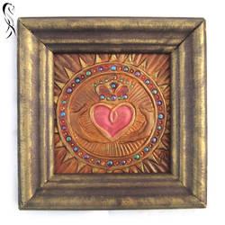 framed Claddagh heart
