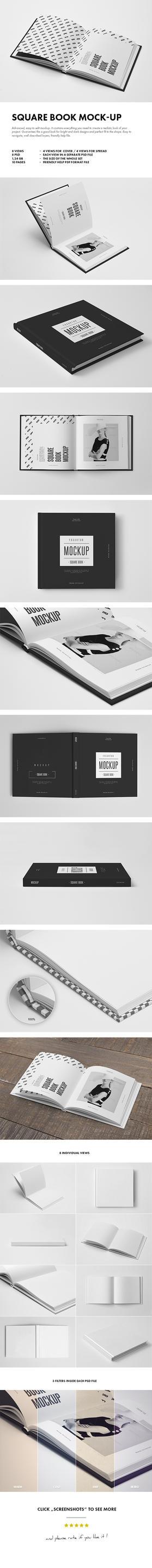 Square Book Mock-up by yogurt86