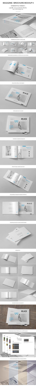 Horizontal Magazine Brochure Mock-up II by yogurt86