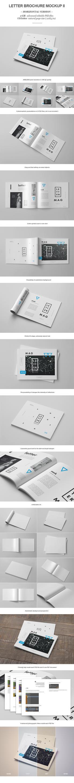 Horizontal Letter Magazine / Brochure Mock-up 2 by yogurt86