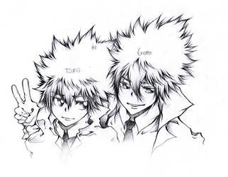 Giotto and Tsuna by Labyrinth27