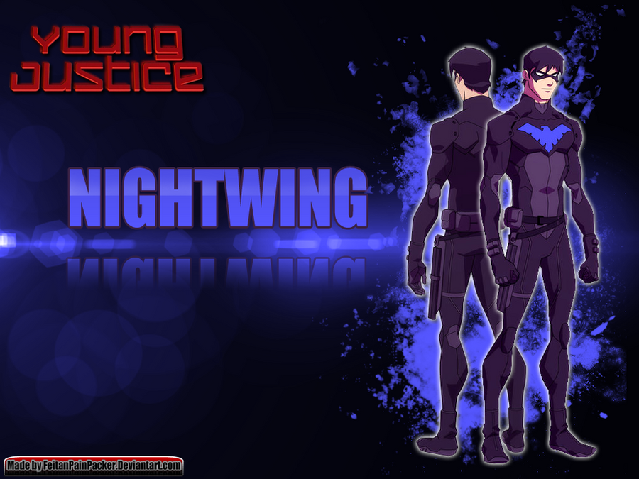 young justice nightwing wallpaper by feitanpainpacker on