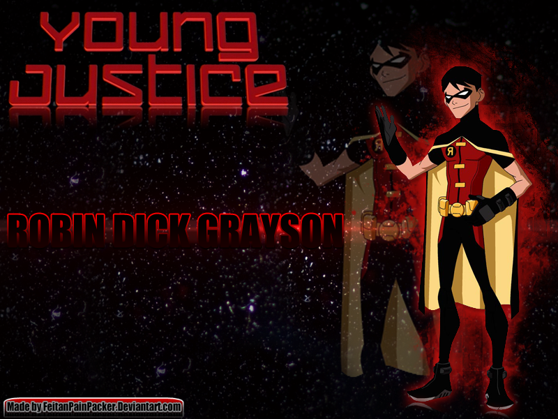 Young Justice Robin Dick Grayson Wallpaper By FeitanPainPacker
