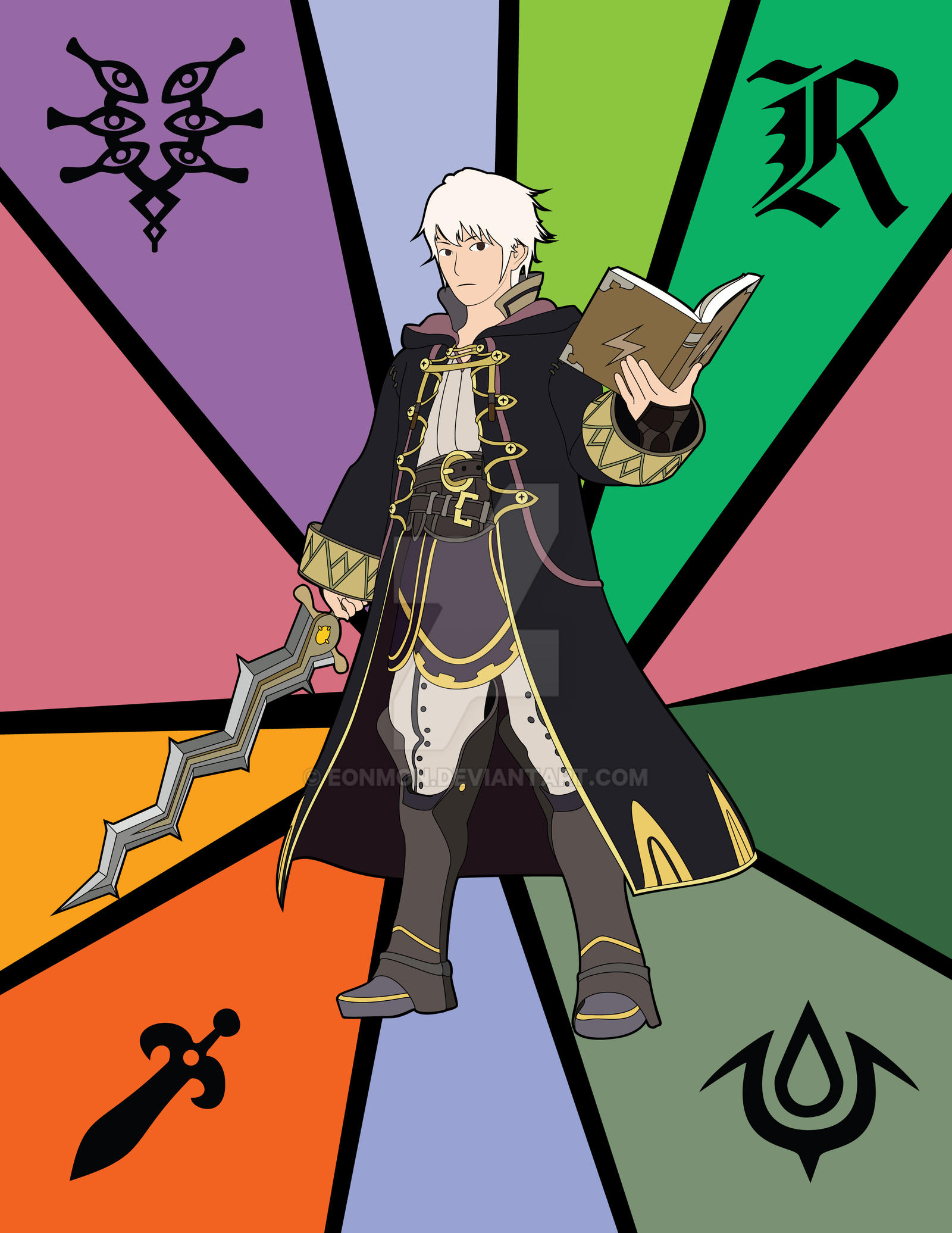 Stained Glass - Robin (SSB4) by EonMon on DeviantArt