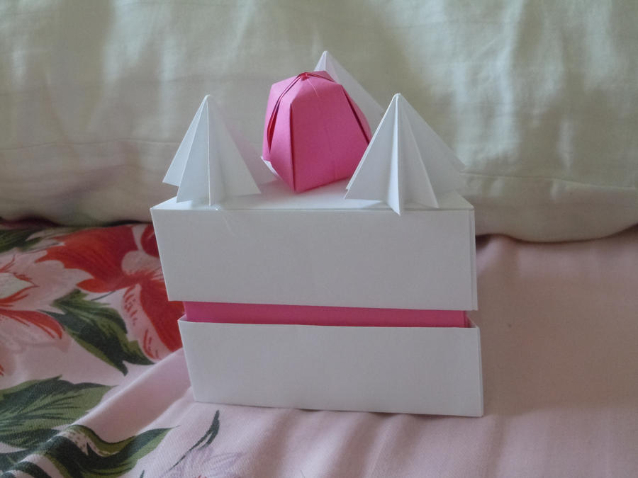 Origami Cake Box by Sugariest on DeviantArt - photo#40