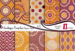 Vintage Purples Paper Pack by naga-pree